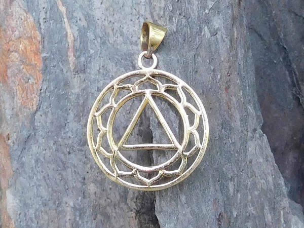 Lotus Triangle Pendant by Avashy